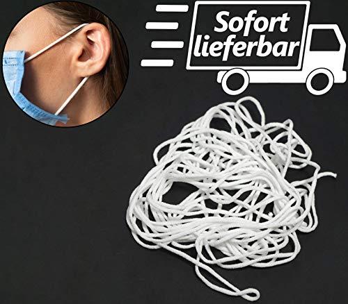 Kolor-Knajp 5 Meter Gummiband Rundgummi Gummilitze Wäscheband Gummizug Ideal für Masken 0,3 cm, 3 mm