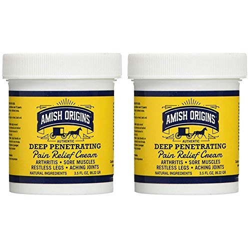 Amish Origins Deep Penetrating Pain Relief Cream, 3.5 Ounce, Pack of 2