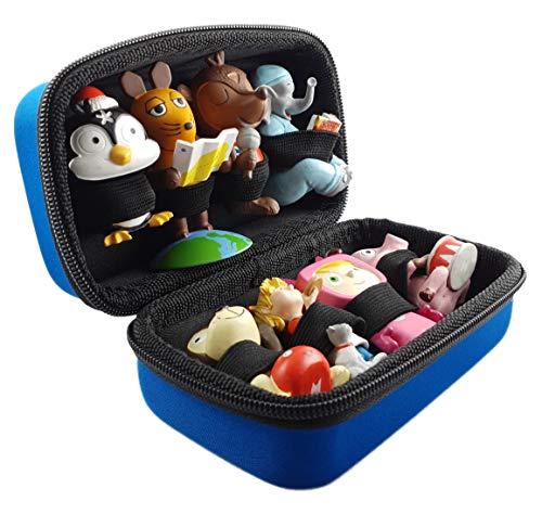 Transport-Tasche für Tonies - BLAU - geeignet für Toniebox: Platz für bis zu 8 Tonie Figuren - Aufbewahrung Transport Tasche Transportbox Tonie-Figuren Tonifigur Reisetasche Box Koffer Case