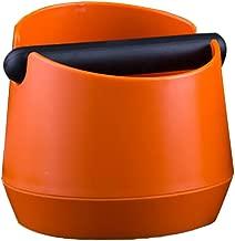 HOMYL Coffee Knock Box with Handle Bucket Espresso Grinds Tamper Waste Bin - Orange