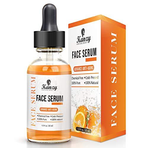 Kanzy Vitamin C Gesicht serum 20% Vitamin C Hyaluronsäure für Akne-Narben, Anti-Aging, Anti-Falten, Zum reines Augenringe und feine Linien, bestes hautöl, reduziert und Falten im Gesicht 30ml