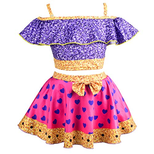Lito Angels Tankini de LOL Super BB para niñas, 2 piezas traje de baño para verano vacaciones natación playa, Talla 8 - 9 Años