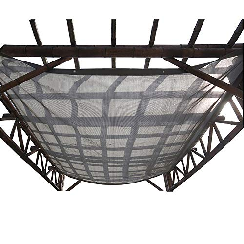 Home Pergola Shade Cover Sunblock Patio Canopy, Gray Rectangle HDPE Permeable Cloth with Grommets on 4 Sides, Outdoor, Patio, Awning, Window Cover (Size : 3Mx3M)