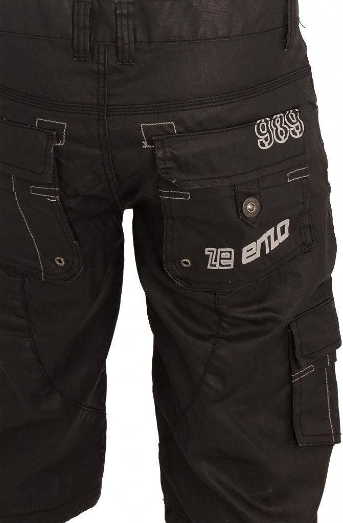 New ENZO Mens Cargo Combat Summer Coated Shorts Black Sizes 28-42