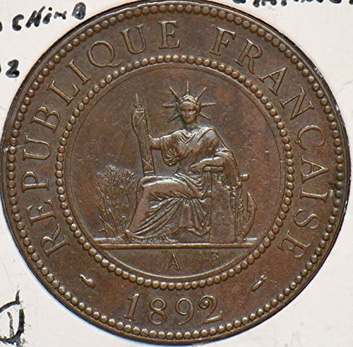 1892 IE French Indo China 1892 Centime 195352 DE PO-01