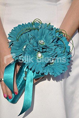 Brillante turquesa de Margarita y cristal prod.no suite ramo de la boda