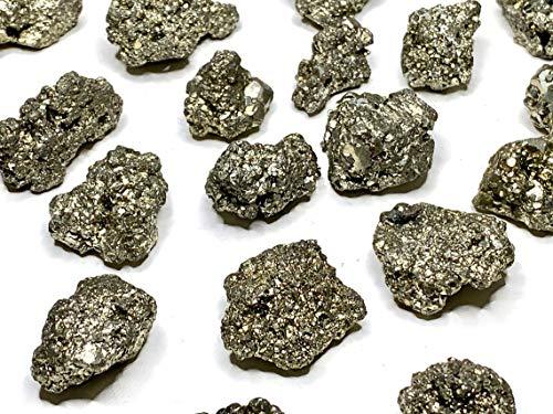 Pirita chispas en bruto del Perú de 30 a 35 mm, piedra natural, ideal para coleccionistas o litoterapia, 11 a 20 g