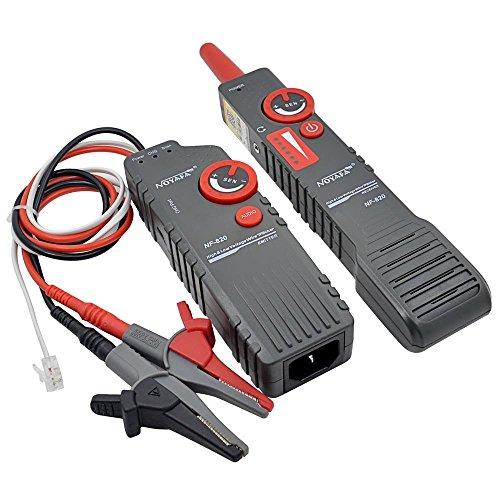 Probador de cables de red LAN - Probador de cables NF-820 Buscador de líneas Rastreador de cables de alto y bajo voltaje Herramienta de diagnóstico de tono Probador de cables de red LAN