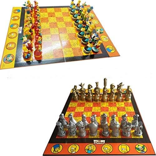 Juego de ajedrez Dolla de ajedrez Chess Decoración de Alta Gama Dibujos Animados Muñeca de Caricatura Juego de ajedrez para niños Estudiantes y niños (Color : A+b)