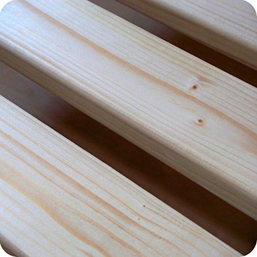 Qualitätsmarkenprodukt TUGA - Holztech stabilstes einlegefertiges unbehandeltes Naturprodukt Rollrost Lattenrost 140x200cm weit über 300Kg Flächenlast Qualitätsarbeit aus Deutschland mit 10 Jahren Garantie inkl Befestigungskit benötigt KEINE Mittelleiste im Bett