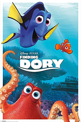 Findet Dorie - Finding Dory - Characters - Disney Zeichentrick Animation Film Movie Kino Poster Druck 61x91,5
