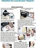 Tattoo-Transferfolien BodyStyle für Laserdrucker...