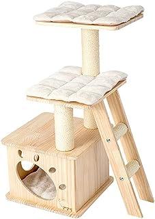Cat Tree for القطط الداخلية - 37.4in منزل الحيوانات الأليفة متعدد المستويات تلعب منزل مع منشورات الخدش والمنصة - برج القائ...