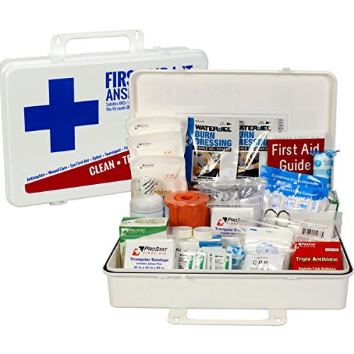 OSHA & ANSI First Aid Kit, 50 Person, 198 Pieces, Indoor/Outdoor Emergency Kit for Office, Home or Car, ANSI 2015 Class B, Types I, II & III, Gasketed for Weather and Moisture Resistance, Made in USA