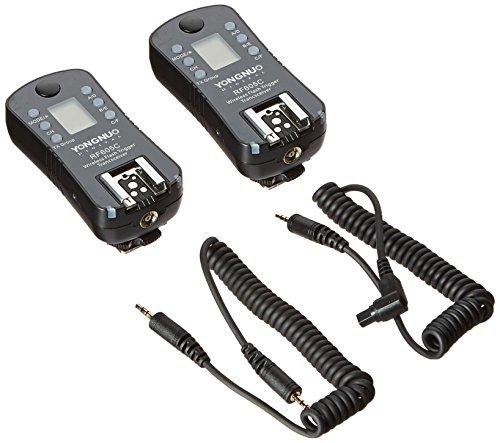 Yongnuo RF605C Funkauslöser für Canon Kamera (2,4 GHz, 100 m, AAA) Schwarz, 2 Stück