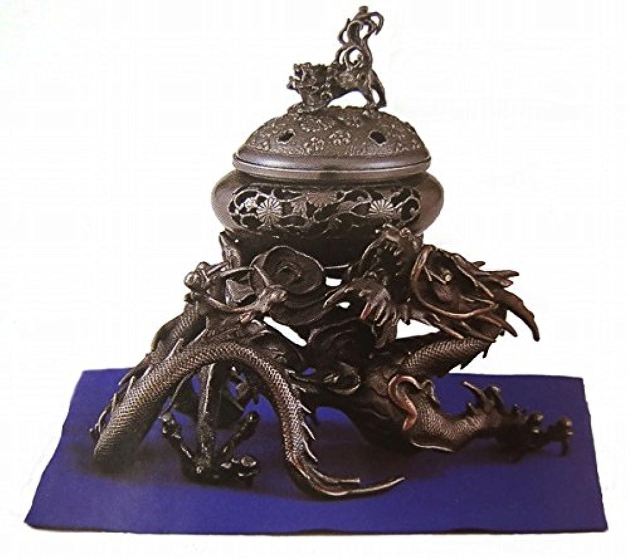 クレタボランティア情熱的『吉祥龍香炉』銅製