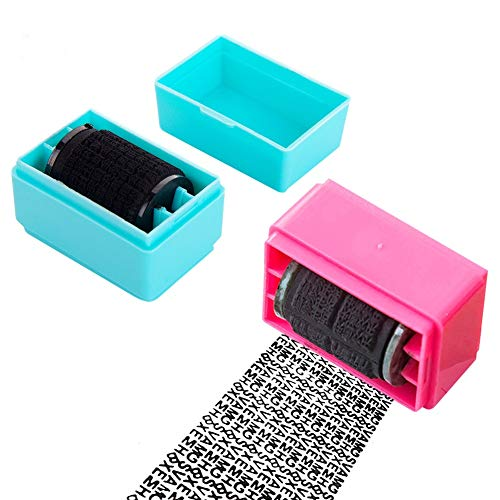 Roller Stamp, Rolling Identity Theft Guard Stamp, Identity Protection Roller Stamp, Wide Roller Identity Theft Prevention Security Stamp, 2Pcs