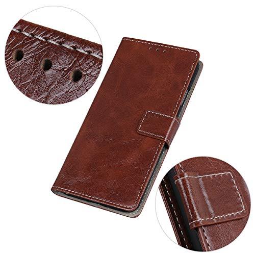 Gift_Source Xiaomi Black Shark 2 Hülle, [Braun] PU Leder Brieftasche Hülle Klapphülle Schutzhülle Handyhülle mit Kartenfächer & ständer Etui Tasche Handytasche für Xiaomi Black Shark 2 (6.39
