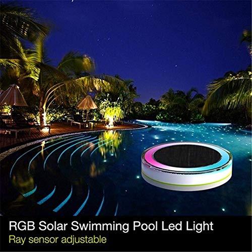RGB Solarleuchte für Außen Solar Poolleuchten Schwimmend LED Farbwechsel Schwimmbadlicht Outdoor Garten Poolbeleuchtung mit Fernbedienung