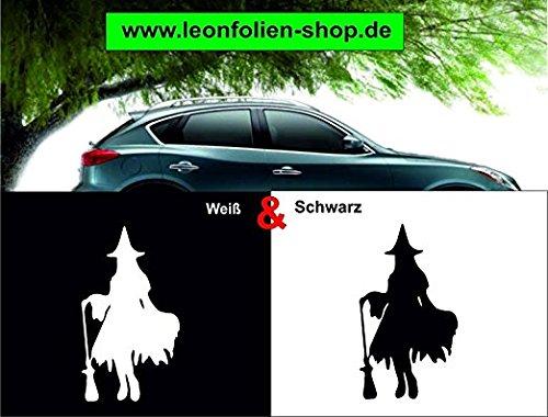 Leon - Adhesivo de bruja para coche, 16 x 9 cm