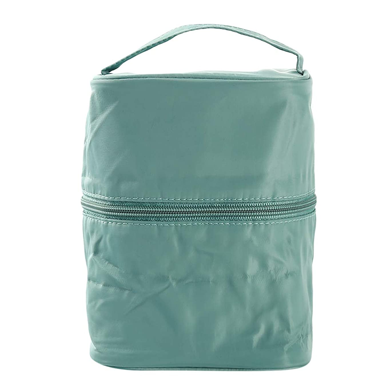 PINKING 化粧ポーチ トイレタリーバッグ バスルームポーチ トラベルポーチ メイクポーチ 携帯用 大容量 縦型 防水 洗面用具入れ 小物入れ 旅行 出張用 緑