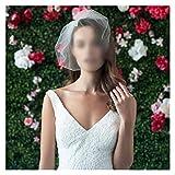 Chenhan Velo De Novia Pájaro Nupcial Velo Birdcage Blusher Tulle Bridal Birdcage Veil Tulle Veil Accesorios de Boda Cinta (Color : White)