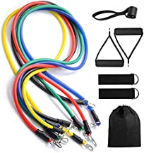 Baeskii Exercise Resistance Bands with Handles 5 Fitness Workout Bands Portable Home Gym Accessories, Perfect Muscle Build...