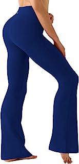 "BUBBLELIME 29""/31""/33""/35""/37"" 4 Styles Women`s High Waist Bootcut Yoga Pants Basic/Out Pockets Tummy Control Workout Bootleg"