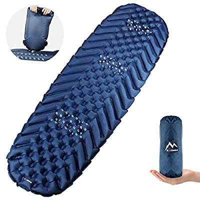 BAGLOBAL Camping Sleeping Pads, Lightweight Camping Sleeping mat with Inflatable bag19.4 OZ, Best Sleeping Pads for Backpacking, Hiking Air Mattress - Inflatable & Compact, Camp Sleep Pad