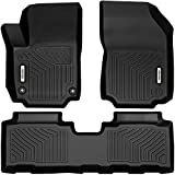 OEDRO Floor Mats Compatible for 2018-2021 GMC Terrain, Unique Black TPE All-Weather Guard Includes 1st and 2nd Row Full Set Liners