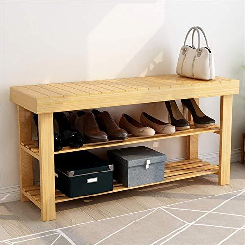 Lshbwsoif Zapatero multifuncional de bambú para zapatos de entrada, armario de almacenamiento para guardarropa ordenada, pasillo, dormitorio