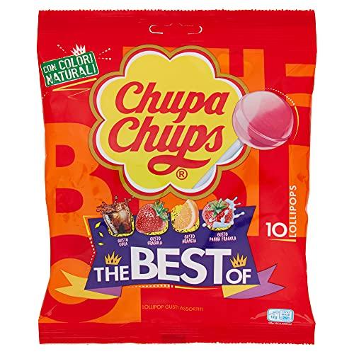 Chupa Chups Lecca Lecca Gusti Assortiti The Best of, 120g