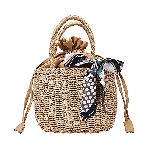 [LoFee]カゴバッグ 在庫セール 手編み レディースハンドバッグ 鞄 トートバッグ リボン付き おしゃれ スト...