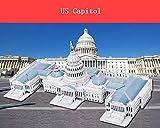 GQQ Tridimensional Puzzle,Manual DIY Modelo De Papel Edificio Creativo Decoración Regalo,Unitedstatescapitol