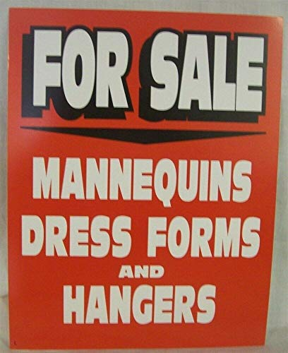 3 Heavy Card Stock Signs for Sale MANNEQUINS, Hangers, Dress Forms