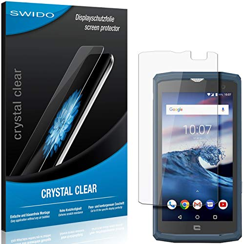 SWIDO Schutzfolie für Crosscall Core-X3 [2 Stück] Kristall-Klar, Hoher Festigkeitgrad, Schutz vor Öl, Staub & Kratzer/Glasfolie, Bildschirmschutz, Bildschirmschutzfolie, Panzerglas-Folie