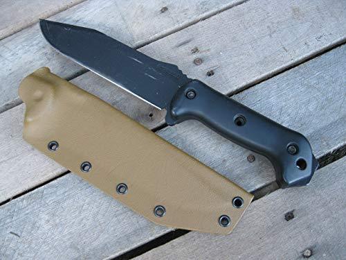 Valhalla Custom Kydex Sheath Ka-bar Becker BK7 COYOTE BROWN One Piece
