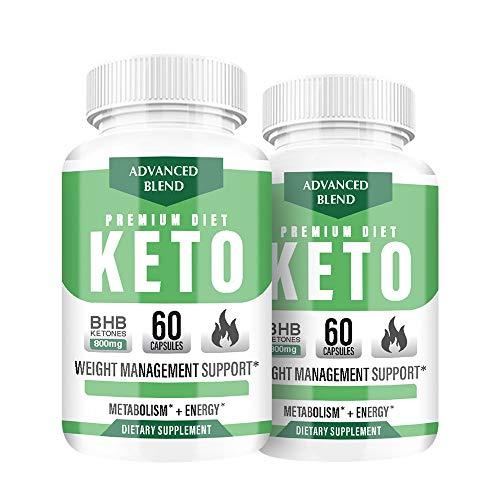 (2 Pack) Premium Diet Keto Pills - Premium Diet Keto 800MG - Premium Diet Keto Advanced Blend (120 Pills - 2 Month Supply)