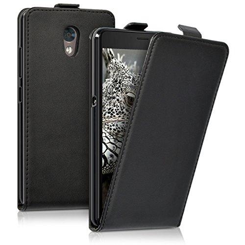 kwmobile Lenovo P2 Hülle - Handyhülle für Lenovo P2 - Schwarz - Handy Case Flip Schutzhülle