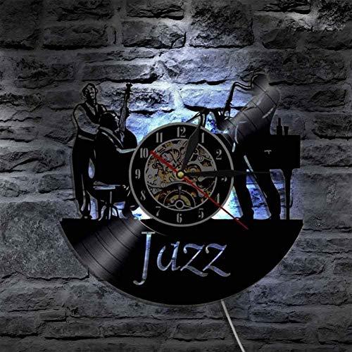 TIANZly Orologio da Muro in Vinile Lampada da Parete A Forma di Orologio da Parete A Forma di Orologio da Polso in Vinile da Uomo-No_LED