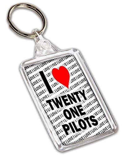 Llavero I Love Twenty One Pilots – Regalo – Cumpleaños...