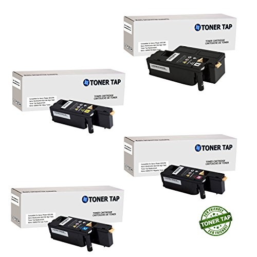 Toner Tap Compatible Toner Cartridge Set for Xerox Phaser 6022/NI Wireless Color Photo Printer, for Xerox WorkCentre 6027/NI Wireless Color Photo Printer with Scanner, Copier and Fax