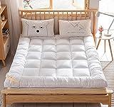 XGHW Colchón de Plumas, colchón Doble Individual, colchón Grueso de Tatami, Plegable colchón de residencia de Estudiantes, Hotel de colchón estéreo (Color : White, Size : 180 * 200cm)