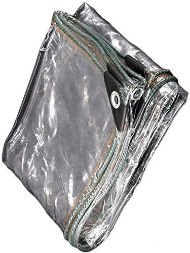 Glass Clear Tarpaulin Waterproof Heavy Duty Metal Ring Eyelet Tarp Sheet Cover Garden Furniture, Camping Or Gardening,customizable (Color : Clear, Size : 2.0x6.0m) ( Color : Clear , Size : 1.0X2.0M )
