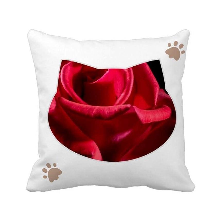 実験室ディレクタージョグ暗赤色のバラの花 枕カバーを放り投げる猫広場 50cm x 50cm