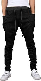 Men's Drawstring Running Dance Trousers Jogging Baggy Harem Sweatpants S528