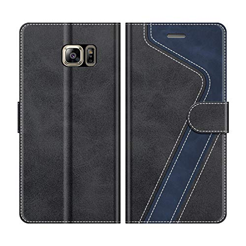 MOBESV Custodia Samsung Galaxy S6 Edge Plus, Cover a Libro Galaxy S6 Edge Plus, Custodia in Pelle Samsung S6 Edge+ Magnetica Cover per Samsung Galaxy S6 Edge Plus, Nero