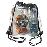 Nueva mochila transparente para guardar mochila con cordón para la escuela, bolsa de deporte, bolsa de deporte