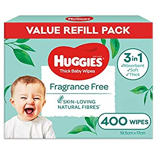 HUGGIES Baby Wipes Fragrance Free Baby Wipes, 400 Wipes Refill Pack (B07NPM94XB) | Amazon price tracker / tracking, Amazon price history charts, Amazon price watches, Amazon price drop alerts