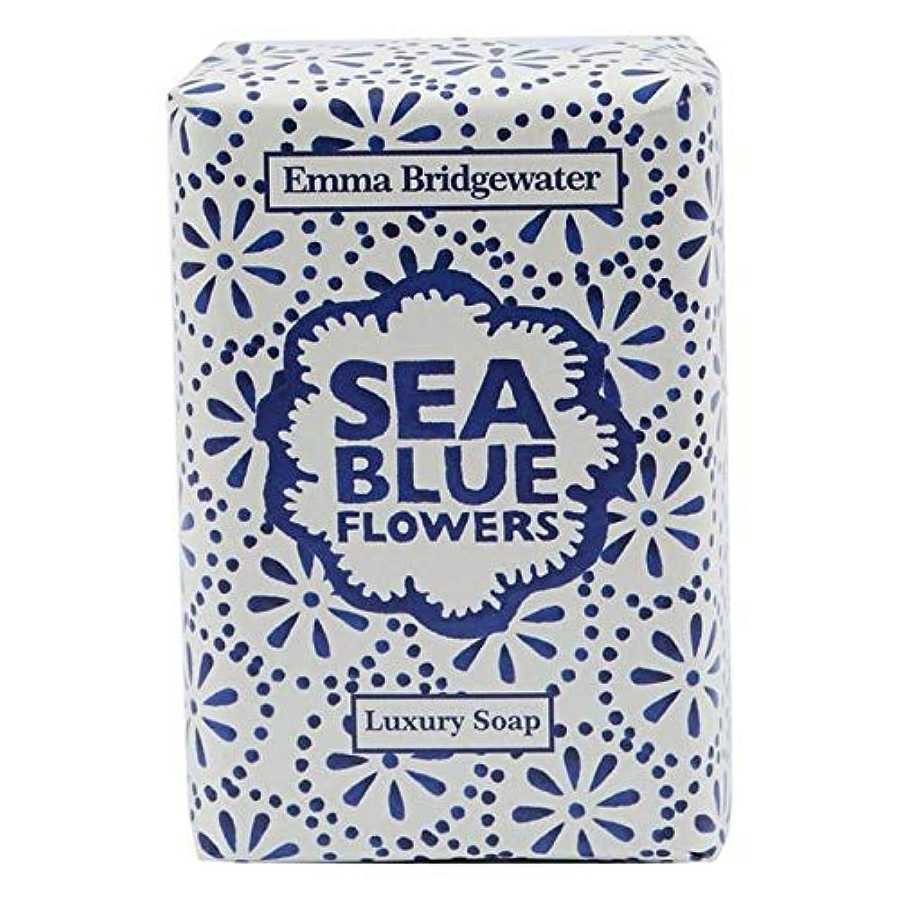 繁栄姉妹苦しむ[Emma Bridgewater ] エマブリッジウォーターシーブルーソープ150グラム - Emma Bridgewater Sea Blue Soap 150g [並行輸入品]